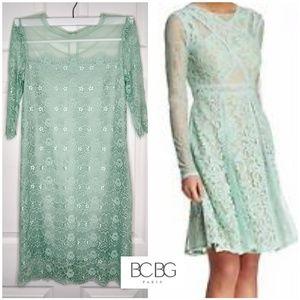 BCBG PARIS MINT GREEN LACE LILLIAN DRESS SIZE 6
